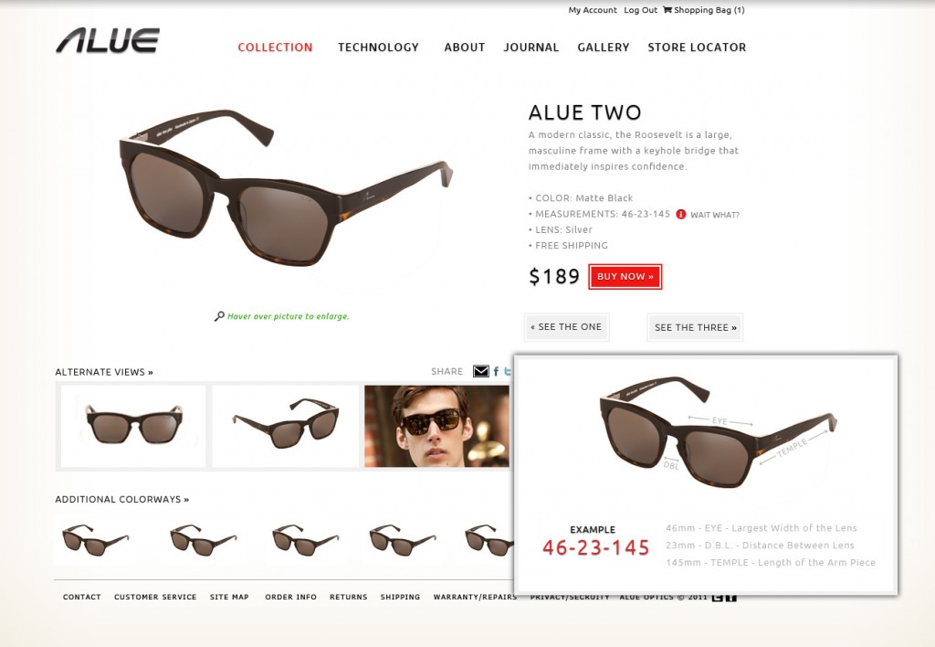 Alue Optics Style Guide Example