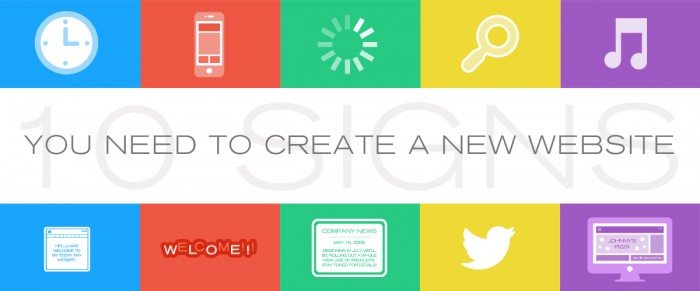 signs you need a new website, create a new website