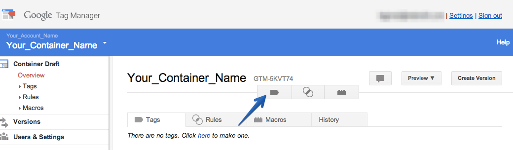 Add a new tag in google tag manager