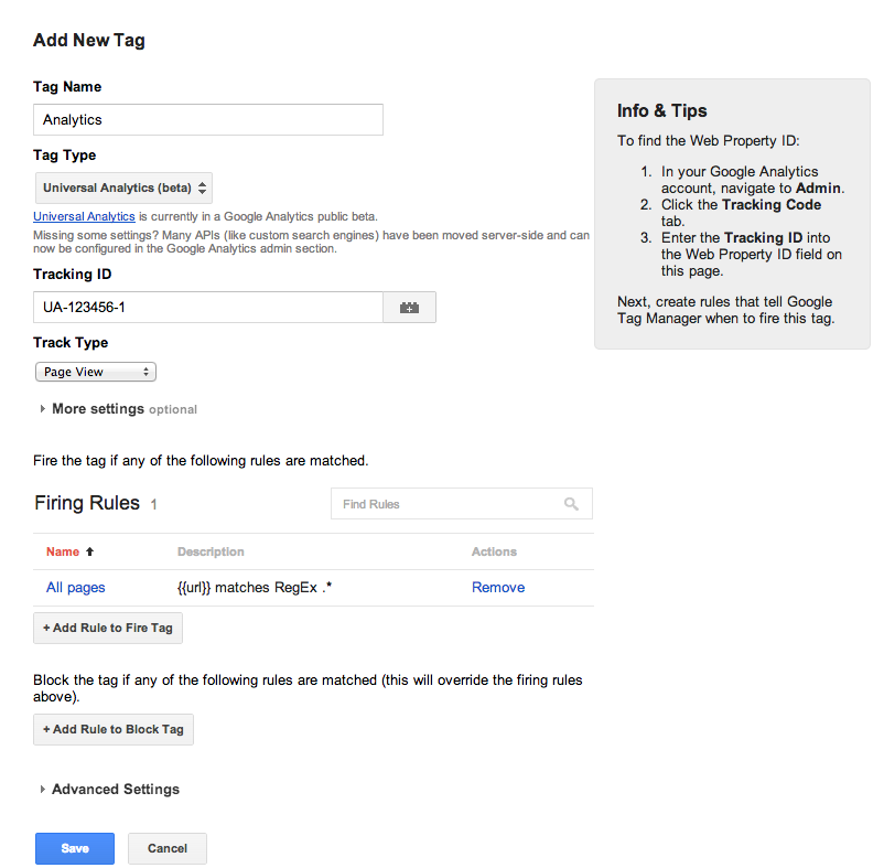 Universal Analytics tag in Google Tag Manager
