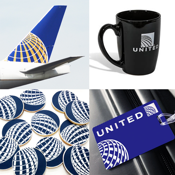 United Airlines brand application