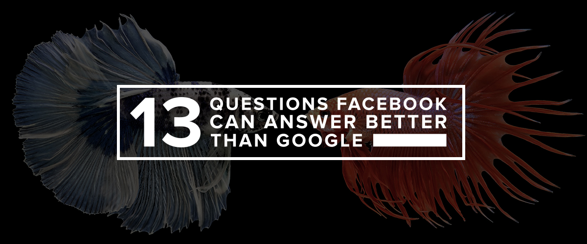 13 Questions Facebook can Answer Better Than Google