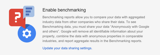 Google Analytics Enable Benchmarking Instructions
