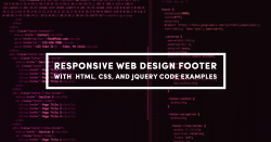 Responsive Web Design Footer with HTML, CSS, and JQuery Code Examples