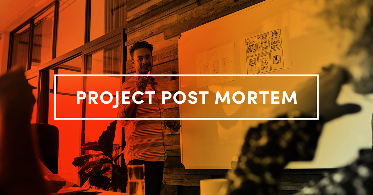 a project post mortem template