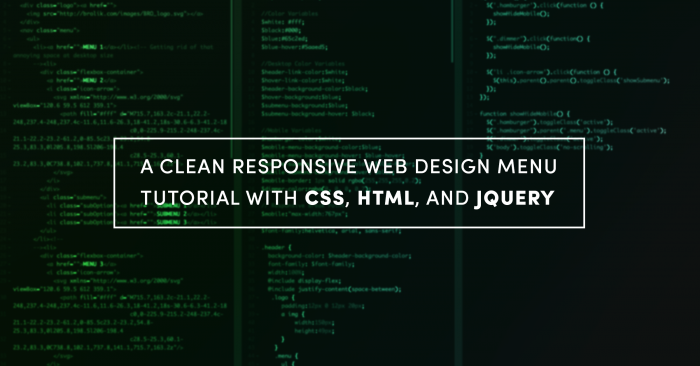 A Clean Responsive Web Design Menu Tutorial with CSS, HTML, and jQuery