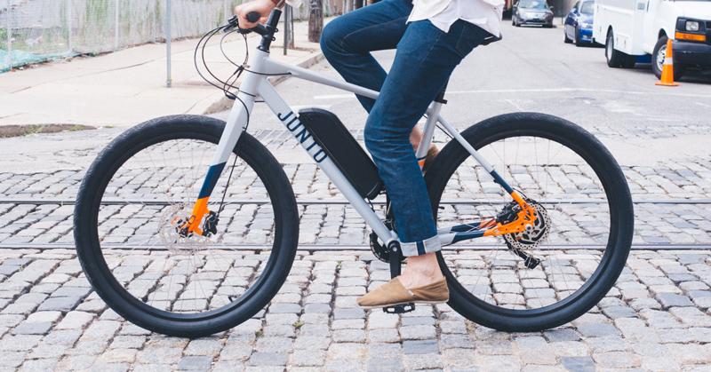 Riding a Junto e-bike